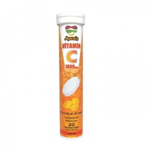 Apexis Vitamin C 20 Efervesan Tablet Ürün Fotoğrafı