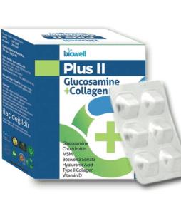 Biowell Plus II Glucosamine + Collagen 60 Kapsül Ürün Fotoğrafı