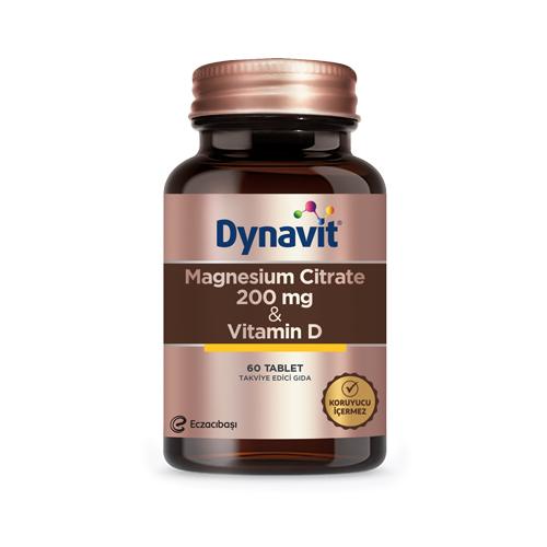 Dynavit Magnesium Citrate 200 Mg & Vitamin D 60 Tablet Ürün Fotoğrafı