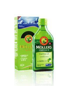 Möller's Omega 3 Cod Liver Oil Elma Aromalı 250 ml Ürün Fotoğrafı