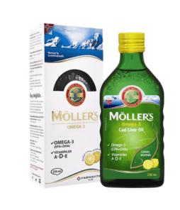 Möller's Omega 3 Cod Liver Oil Limon Aromalı 250 ml Ürün Fotoğrafı