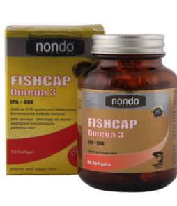 Nondo Vitamins Fish Cap Omega 3 50 Kapsül'ün Ürün Fotoğrafı
