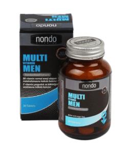 Nondo Vitamins Multivitamin Men 30 Tablet'in Ürün Fotoğrafı