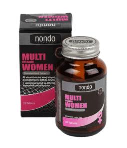 Nondo Vitamins Multivitamin Women 30 Tablet'in Ürün Fotoğrafı
