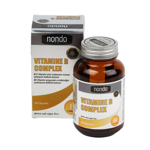 Nondo Vitamin B-Complex 30 Kapsül Ürün Fotoğrafı