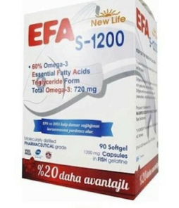 New Life Efa S-1200 Omega 3 90 Kapsül Ürün Fotoğrafı