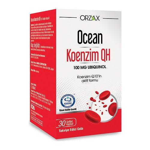 Orzax Ocean Koenzim QH 30 Kapsül / 100 Mg'ın Ürün Fotoğrafı