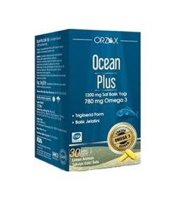 Orzax Ocean Plus Omega 3 30 Kapsül / 1200 Mg'ın Ürün Fotoğrafı