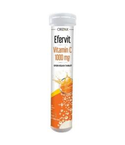 Orzax Efervit Vitamin C 1000 Mg Efervesan 20 Tablet Ürün Fotoğrafı