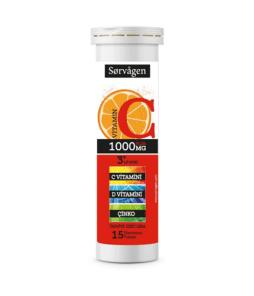 Sorvagen Vitamin C Plus 15 Efervesan Tablet / 1000 Mg'ın Ürün Fotoğrafı