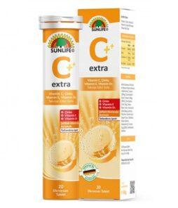 Sunlife C Ekstra 20 Efervesan Tablet'in Ürün Fotoğrafı