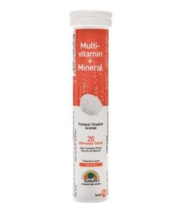Sunlife Multivitamin Mineral Efervesan 20 Tablet Ürün Fotoğrafı