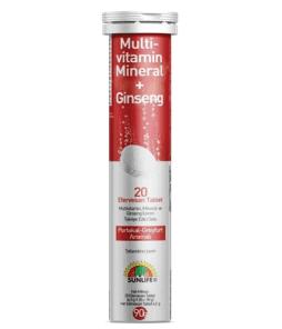 Sunlife Multivitamin Mineral + Ginseng Efervesan 20 Tablet'in Ürün Fotoğrafı