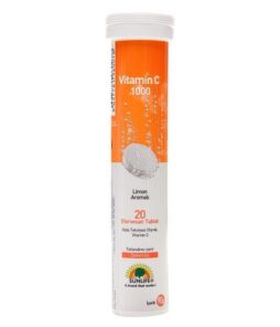 Sunlife Vitamin C 20 Efervesan Tablet / 1000 Mg'ın Ürün Fotoğrafı