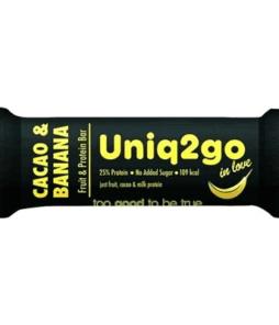 Uniq2go In Love Kakaolu ve Muzlu Protein Bar 32 Gram'ın Ürün Fotoğrafı