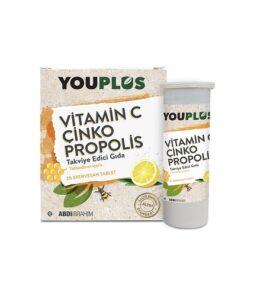 Youplus Vitamin C 20 Efervesan Tablet'in Ürün Fotoğrafı