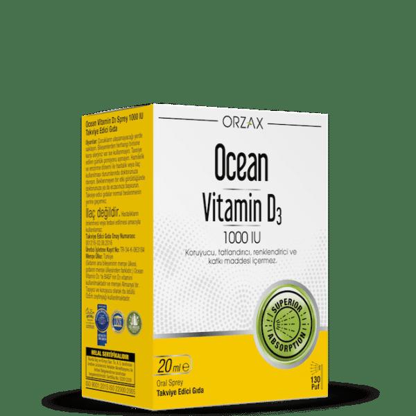 Orzax Ocean Vitamin D3 20 ML / 1000 IU'nun Ürün Fotoğrafı