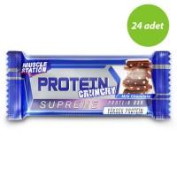 Muscle Station Crunchy Supreme Protein Bar 40 Gram'ın Ürün Fotoğrafı