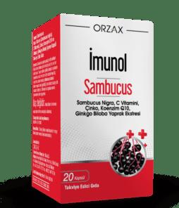 Orzax İmunol sambucus 20 Kapsül'ün Ürün Fotoğrafı