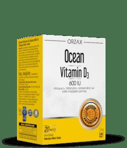 Orzax Ocean Vitamin D3 20 ML / 600 IU'nun Ürün Fotoğrafı