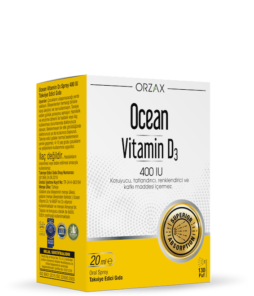 Orzax Ocean Vitamin D3 20 ML / 400 IU'nun Ürün Fotoğrafı