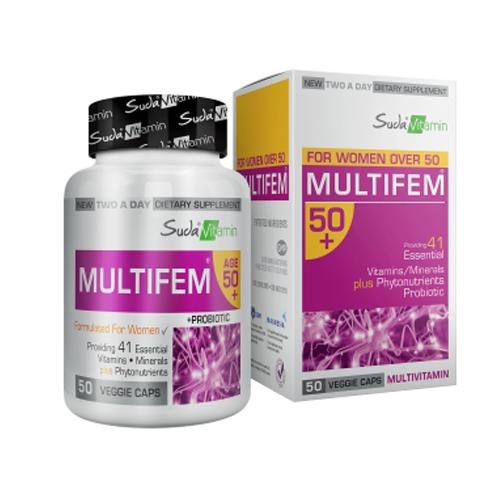 Suda Vitamin Multifem 50+ Multivitamin 50 Kapsül'ün Ürün Fotoğrafı