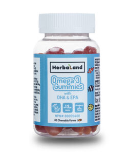 HerbaLand Omega 3 Gummies 60 Çiğnenebilir Tablet