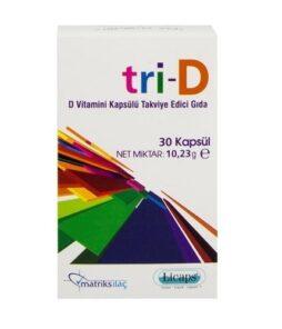Matriks İlaç Tri-D D3 Vitamini 30 Kapsül'ün Ürün Fotoğrafı