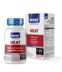 West NutritionTermojenikHeat Yeşil Çay - Garsiniya Ekstresi 120 Tablet'in Ürün Fotoğrafı
