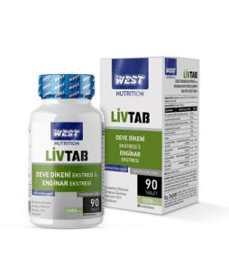 West Nutrition Livtab Milk Thistle 90 Tablet'in Ürün Fotoğrafı