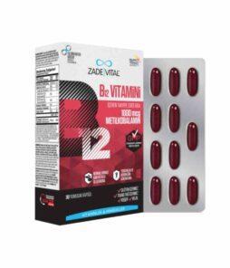 Zade Vital B12 Vitamini 30 Kapsül / 1000 Mcg'nin Ürün Fotoğrafı