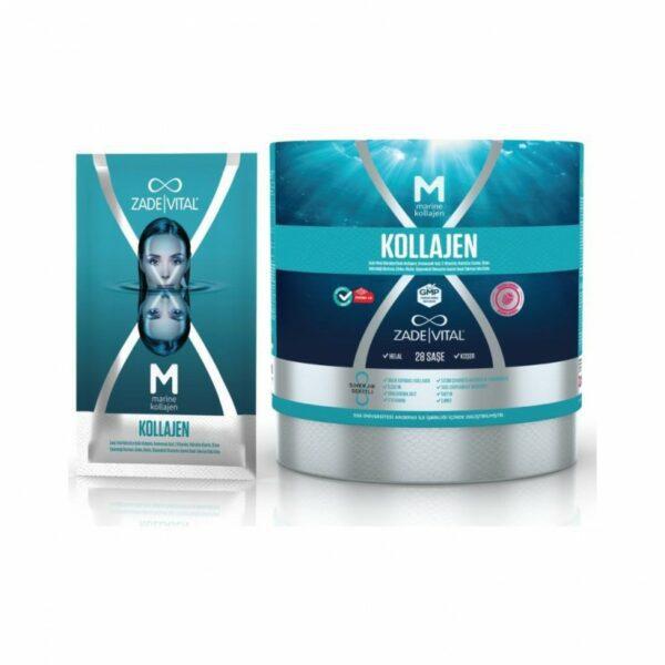 Zade Vital Marine Collagen + Hyaluronic Acid 28 Saşe'nin Ürün Fotoğrafı