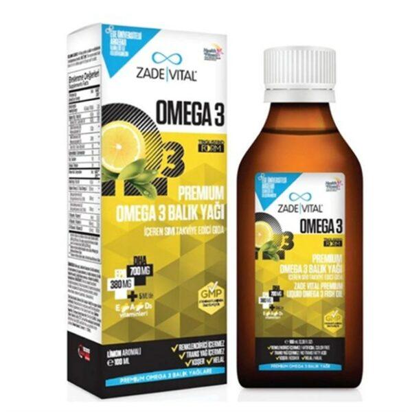 Zade Vital Premium Omega 3 Balık Yağı Şurubu 100 ML'in Ürün Fotoğrafı