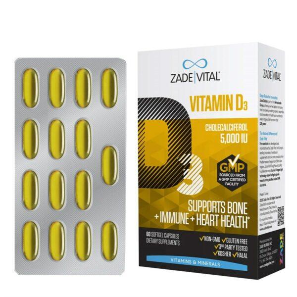 Zade Vital D3 Vitamini 30 Kapsül / 1000 IU'nun Ürün Fotoğrafı