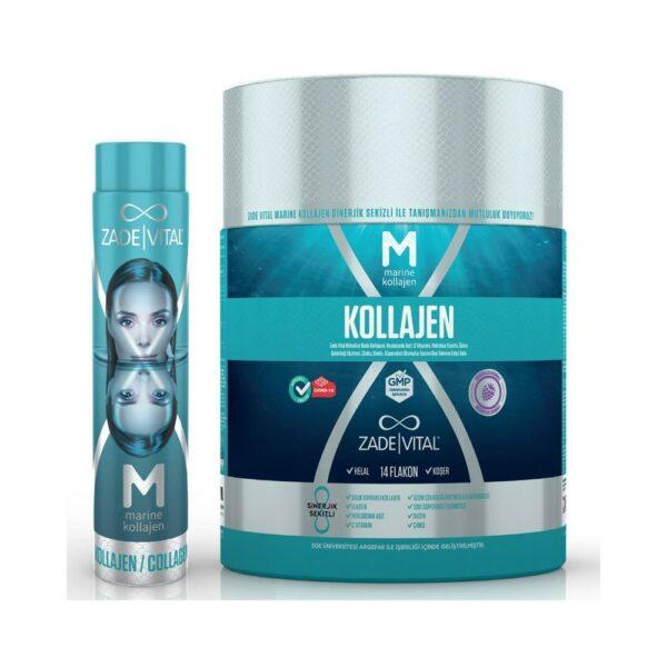 Zade Vital Marine Collagen 14 Flakon'un Ürün Fotoğrafı