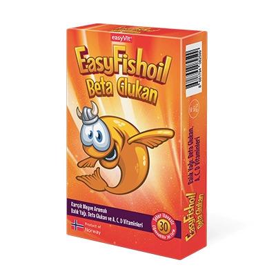 EasyVit EasyFishOil Beta Glukan Çocuk 30 Tablet