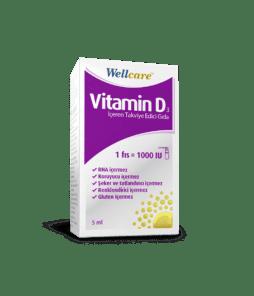 Wellcare Vitamin D3 1000 ıu 5 Ml'nin Ürün Fotoğrafı