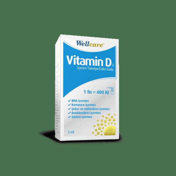 Wellcare Vitamin D3 400 ıu 5 ml'nin Ürün Fotoğrafı