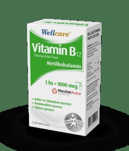Wellcare Vitamin B12 1000 Mcg 5 Ml'nin Ürün Fotoğrafı