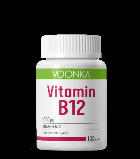 Voonka Vitamin B12 102 Tablet Ürün Fotoğrafı