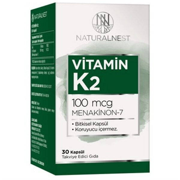Naturelnest Vitamin K2 100 mcg 30 Kapsül'ün ürün fotoğrafı