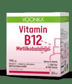 Voonkaa Vitamin B12 Metilkobalamin Sprey & Damla 20 ML Ürün Fotoğrafı