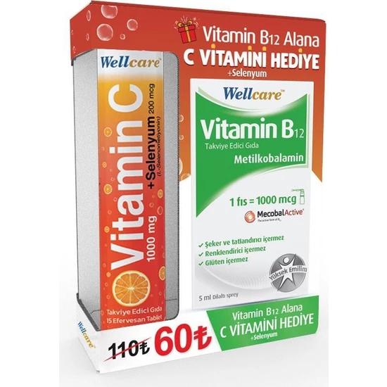Wellcare Vitamin B12 + C vitamini Avantajlı Paket