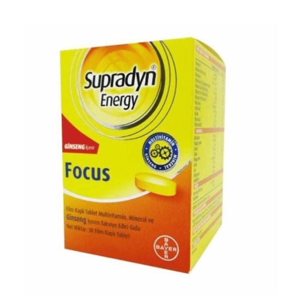 Supradyn energy focus 30 Tablet ürün fotoğrafı