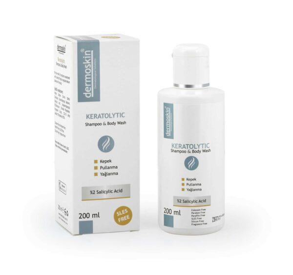 Dermoskin Keratolytic saç ve vücut şampuanı 200 ML ürün Fotoğrafı